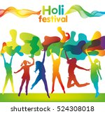 holi festival poster with... | Shutterstock .eps vector #524308018