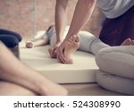 health wellness massage... | Shutterstock . vector #524308990