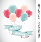 color glossy happy birthday... | Shutterstock .eps vector #524309338