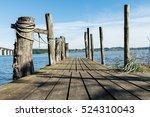 Wooden Jetty On Lake Veije ...