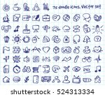 Vector Doodle Icons Set. Stock...