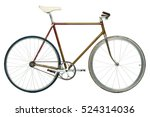 stylish hipster bicycle... | Shutterstock . vector #524314036
