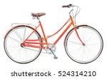 stylish womens orange bicycle... | Shutterstock . vector #524314210