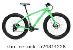 new blue bicycle with thick... | Shutterstock . vector #524314228