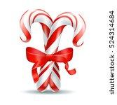 christmas candy. illustration... | Shutterstock .eps vector #524314684