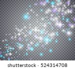 glowing magical wave of glitter ... | Shutterstock .eps vector #524314708