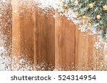 christmas ornaments with snow... | Shutterstock . vector #524314954