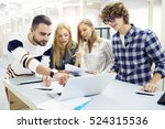 team leader discussing with...   Shutterstock . vector #524315536