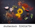 herbs and spices selection ... | Shutterstock . vector #524316754