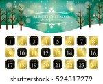 christmas advent calendar   Shutterstock .eps vector #524317279