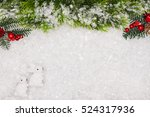 christmas greeting card.... | Shutterstock . vector #524317936