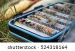 box of flies for fly fishing | Shutterstock . vector #524318164