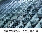 brilliant polished metal mesh... | Shutterstock . vector #524318620