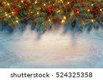 Christmas Fir Tree With Lights...