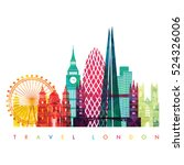 london skyline. vector... | Shutterstock .eps vector #524326006