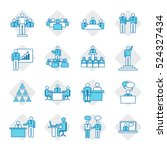 business people icon set vector ... | Shutterstock .eps vector #524327434