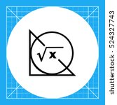 math formula  circle and... | Shutterstock .eps vector #524327743