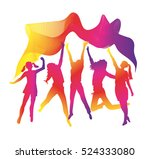 holi festival poster with... | Shutterstock .eps vector #524333080