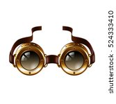 steampunk goggles isolated on... | Shutterstock .eps vector #524333410