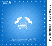 car insurance web icon. vector... | Shutterstock .eps vector #524335876