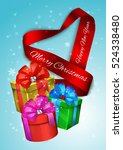 elegance realistic satin ribbon ...   Shutterstock .eps vector #524338480