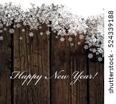 happy new year  greeting on... | Shutterstock .eps vector #524339188