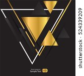 abstract gold geometric vector... | Shutterstock .eps vector #524339209