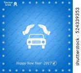 car insurance web icon. vector... | Shutterstock .eps vector #524339353