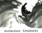 abstract ink background. marble ... | Shutterstock . vector #524344453