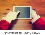 joyful christmas online...   Shutterstock . vector #524345623