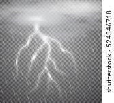 realistic vector lightning ...   Shutterstock .eps vector #524346718