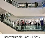 Small photo of LONDON - NOVEMBER 27: Christmas Shoppers inside John Lewis Oxford Street Department Store during the Black Friday Weekend Sales on November 27, 2016 in London, UK.