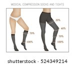 vector medical compression... | Shutterstock .eps vector #524349214