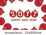 2017 happy new year and red...   Shutterstock . vector #524350144