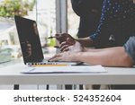 people working with document... | Shutterstock . vector #524352604