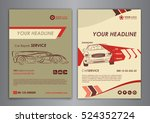 auto repair brochure templates  ... | Shutterstock .eps vector #524352724