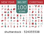 christmas  new year holidays... | Shutterstock .eps vector #524355538