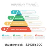 hierarchy pyramid in 4 colors... | Shutterstock .eps vector #524356300