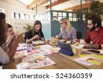 team of designers having... | Shutterstock . vector #524360359