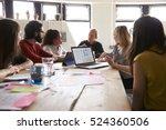 group of designers meeting... | Shutterstock . vector #524360506