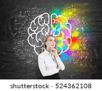thoughtful businesswoman is... | Shutterstock . vector #524362108