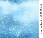 winter background with an ice... | Shutterstock .eps vector #524363749