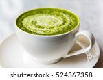 Hot Green Tea Matcha Latte In ...