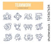 doodle vector line icons of... | Shutterstock .eps vector #524367634