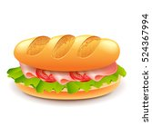 french sandwich from loaf... | Shutterstock .eps vector #524367994