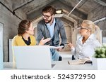business conflict    casual... | Shutterstock . vector #524372950