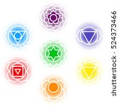chakras icons . concept of... | Shutterstock .eps vector #524373466