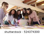 female designers having... | Shutterstock . vector #524374300