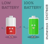low battery and full battery... | Shutterstock .eps vector #524378608