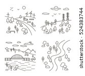 Vector Set Of Four Country...